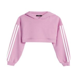 Crop pink hoodie for ladies