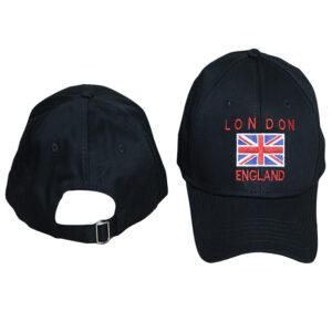 LONDON FLAG CAP BLACK -LB1