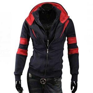 Reb and Black hoodie