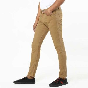 Smart khaki color denim pant 1.1